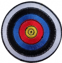 Archery Target Embroidered Patch